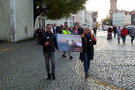 Görlitz: Corona-Gegner ziehen durch Görlitzer Innenstadt