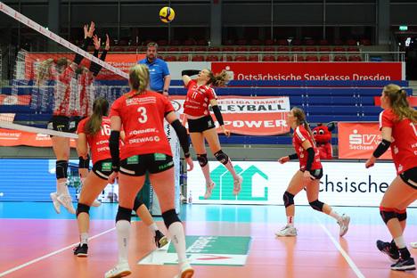 Familie und Kinder: Punkten mit den DSC Volleyball Damen