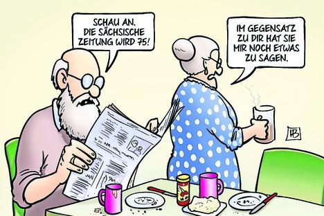 75 Jahre SZ - Karikaturisten gratulieren