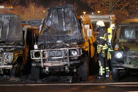 Polizei sucht Brandstifter von Leipzig