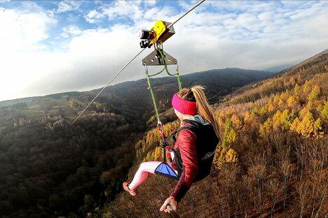 Pirna: Mit der Seilrutsche über den Erzgebirgskamm