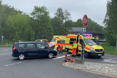 Schwerer Unfall an der B175 bei Döbeln