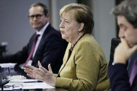 Politik: Merkels Lockdown-Probleme wachsen