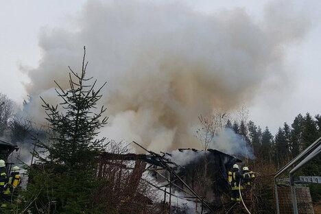 Brand auf Campingplatz in Dippser Heide