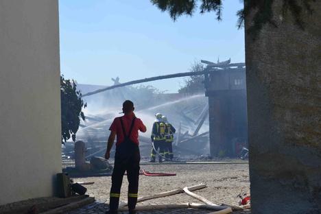 Scheune in Ralbitz-Rosenthal brennt nieder