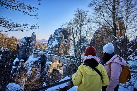 Was man im Winter in der Sächsischen Schweiz erleben kann