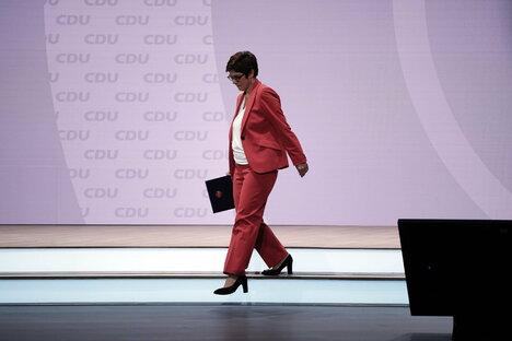 CDU-Vorsitz: Kramp-Karrenbauer tritt ab