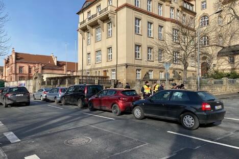 Karambolage mit fünf Autos