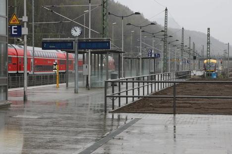 Fahrgäste in Bad Schandau vergessen