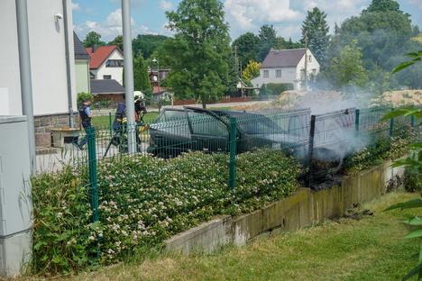 Kirschau: Pkw-Brand wegen eines Defekts