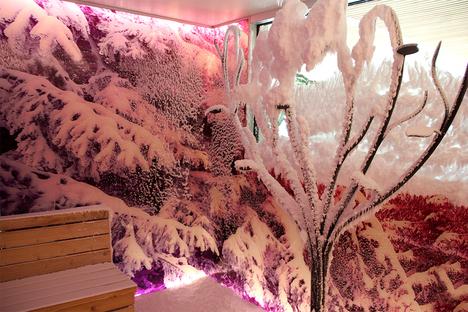 Gesundheit und Wellness: Schnee in der Sauna?!