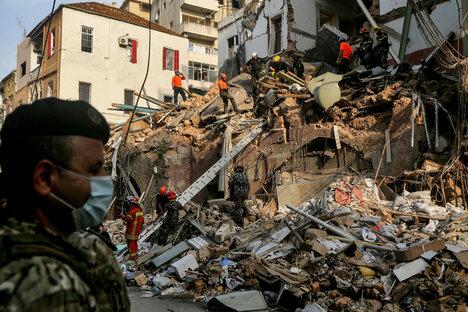 Lebenszeichen in den Trümmern von Beirut