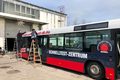 Aus Linien- wird Corona-Test-Bus