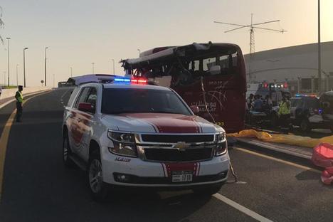 17 Tote bei Busunglück in Dubai