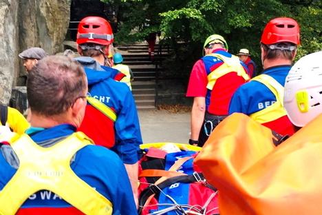 Bastei: Bergwacht rettet 82-jährige Wanderin
