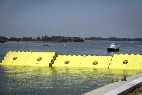Venedig testet seinen Flutschutz
