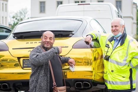 Dresden: Gold-Porsche hat Dresden verlassen