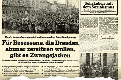 """Der 13. Februar: """"Mein Kampftag für den Frieden"""""""