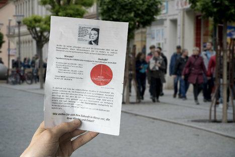 Protestaufruf landet in Riesaer Briefkästen