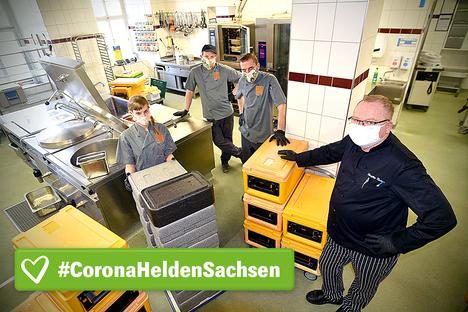 Corona-Helden am Kochtopf
