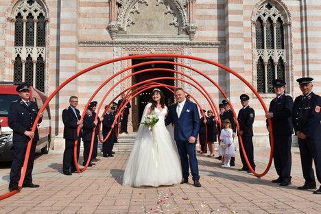 Hochzeit mit der Feuerwehr