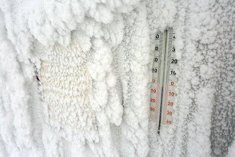 Sonne und Frost in Sachsen