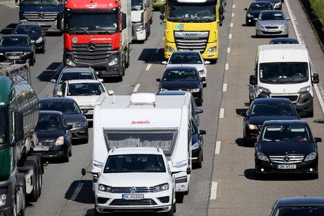 Dresden: Sommerbaustelle auf der A4