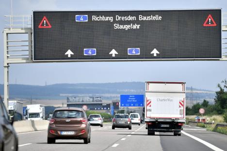 Verkehrslage zum Ferienstart ruhig