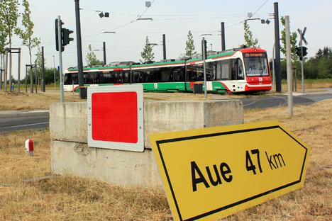 Mit der Straßenbahn nach Aue