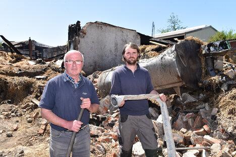 Solidarität nach Scheunenbrand in Tharandt
