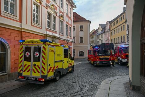 Küche brennt in Bautzen