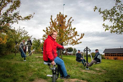 Döbeln: Striegistaler Turmfreunde lassen die Muskeln spielen