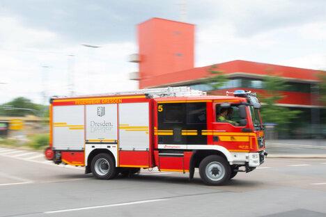 Dresden: Wohnungsbrand mit Verletztem