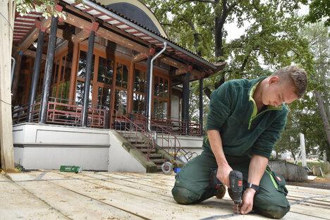 Neuer Park für Chinesischen Pavillon in Dresden