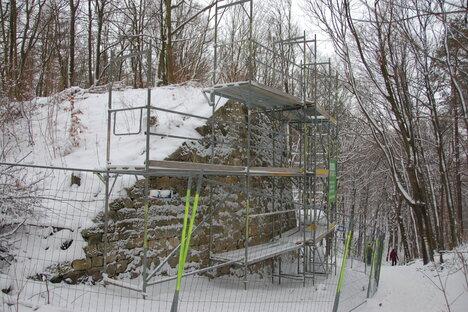 Alter Brückenbau am Freitaler Windberg marode