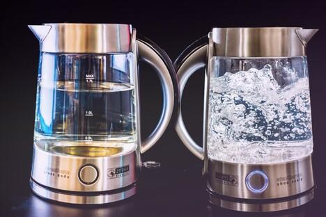 Design-Trend mit Glas-Wasserkocher