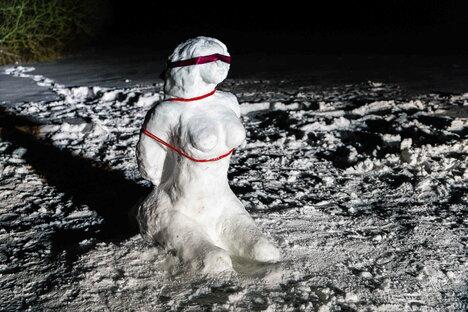 Radeberg: Nächster Streich der Schneekünstler in Radeberg