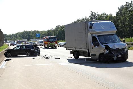 A4 wegen Unfall kurzeitig gesperrt