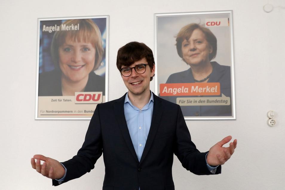 Georg Günther tritt für die CDU im bisherigen Wahlkreis von Bundeskanzlerin Angela Merkel an.