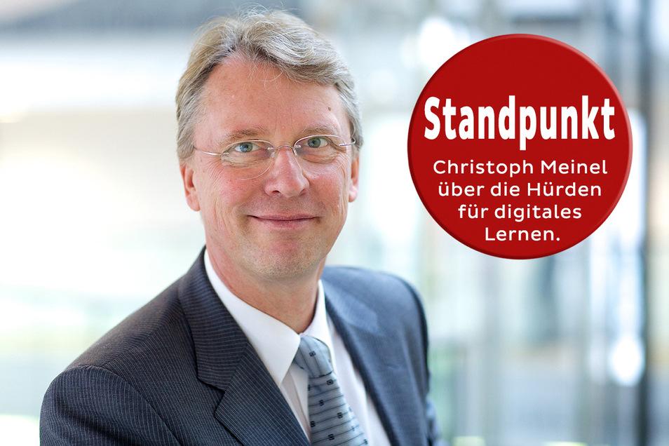 Prof. Dr. Christoph Meinel, Direktor des Hasso-Plattner-Instituts für Softwaresystemtechnik, kämpft für eine bessere digitale Schule.
