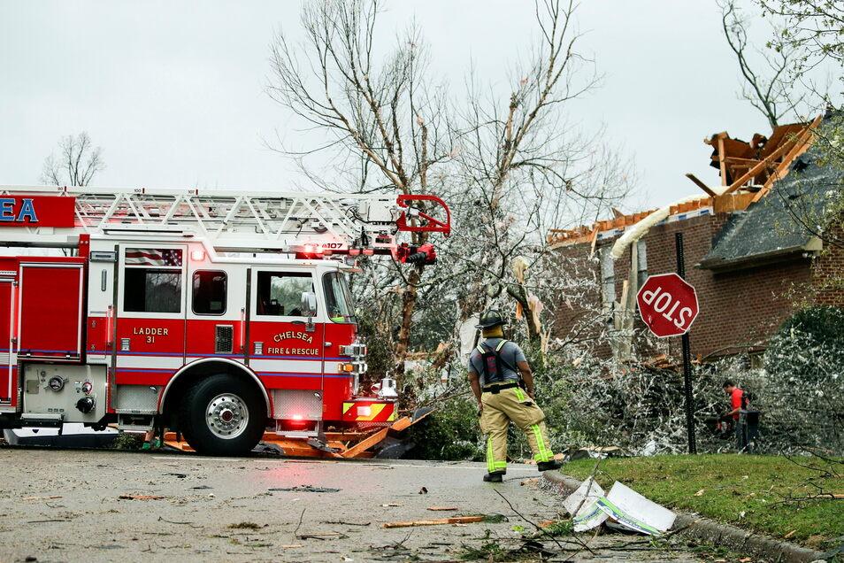 In der Gemeinde Eagle Point wurden mehrere Häuser beschädigt.