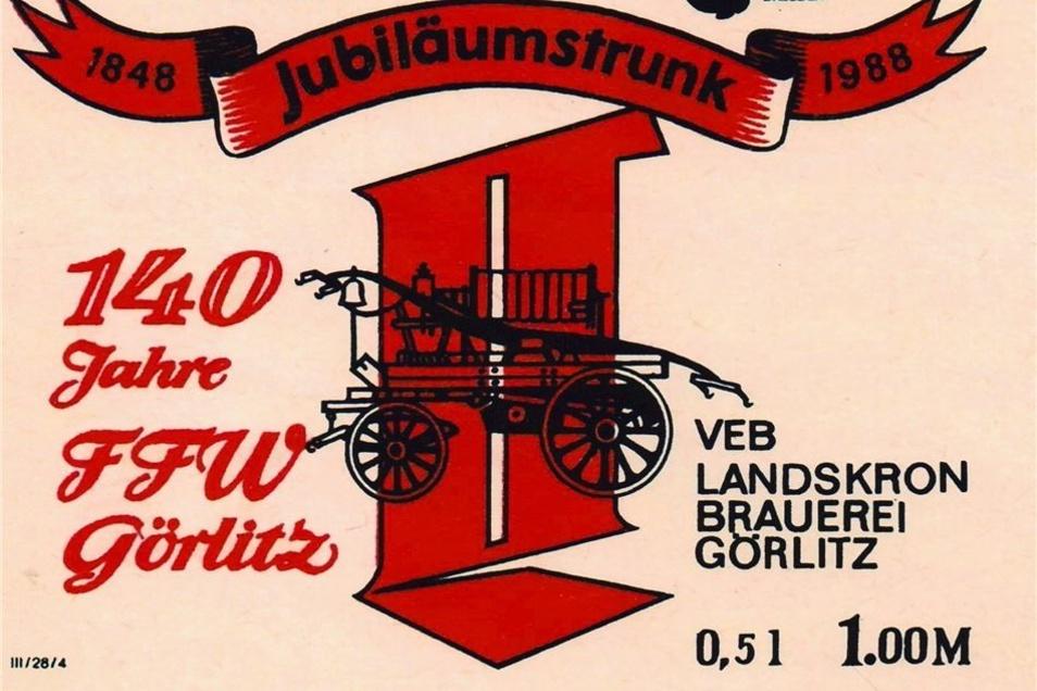 Zum 140-jährigen Bestehen der Wehr produzierte die Landskron Brauerei sogar ein Jubiläumsbier.