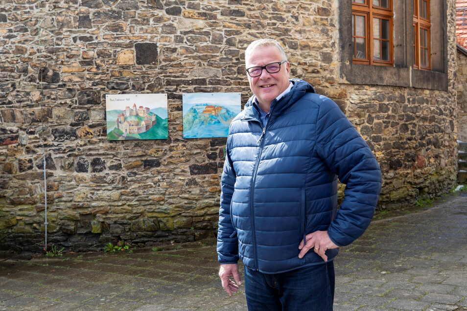 Zurzeit ein bisschen allein auf der Burg Dohna, dafür mit den Gedanken bei einer Aufgabe oft ganz weit weg: Carsten Holey.