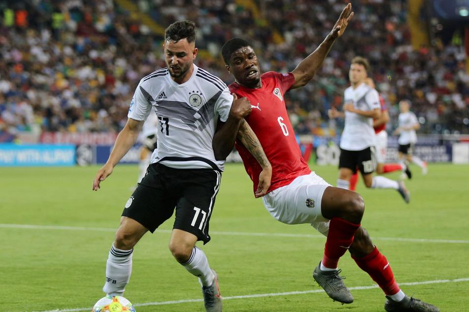 Die Österreicher störten das Spiel der Deutschen frühzeitig und holten sich das Remis zu Recht.