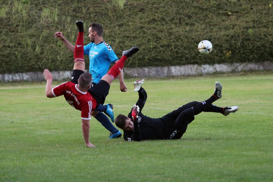 Der VfB Leisnig und der  Döbelner SC trennten sich unentschieden.