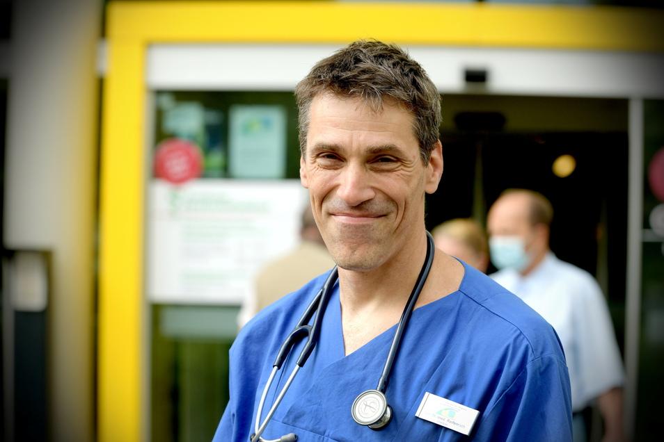 Dr. Kolja Reifenrath ist neuer Chefarzt der Klinik für Innere Medizin am Zittauer Krankenhaus.