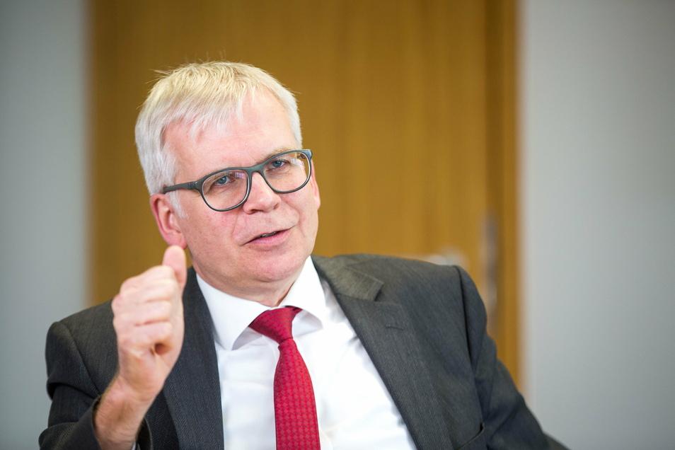 Finanzminister Hartmut Vorjohann (CDU.