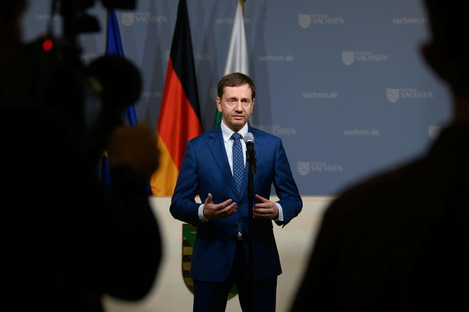 Erklärt die Verlängerung des Lockdowns: Sachsens Ministerpräsident Michael Kretschmer.