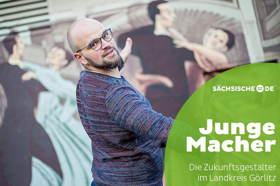 Große Fußstapfen. Ronny Jeschke leitet beim Tanzclub Grün-Gold Görlitz die Breitensportgruppe am Montag. Das war bisher die Aufgabe von Görlitz' erfolgreichstem Tänzer: Detlef Zerbe.