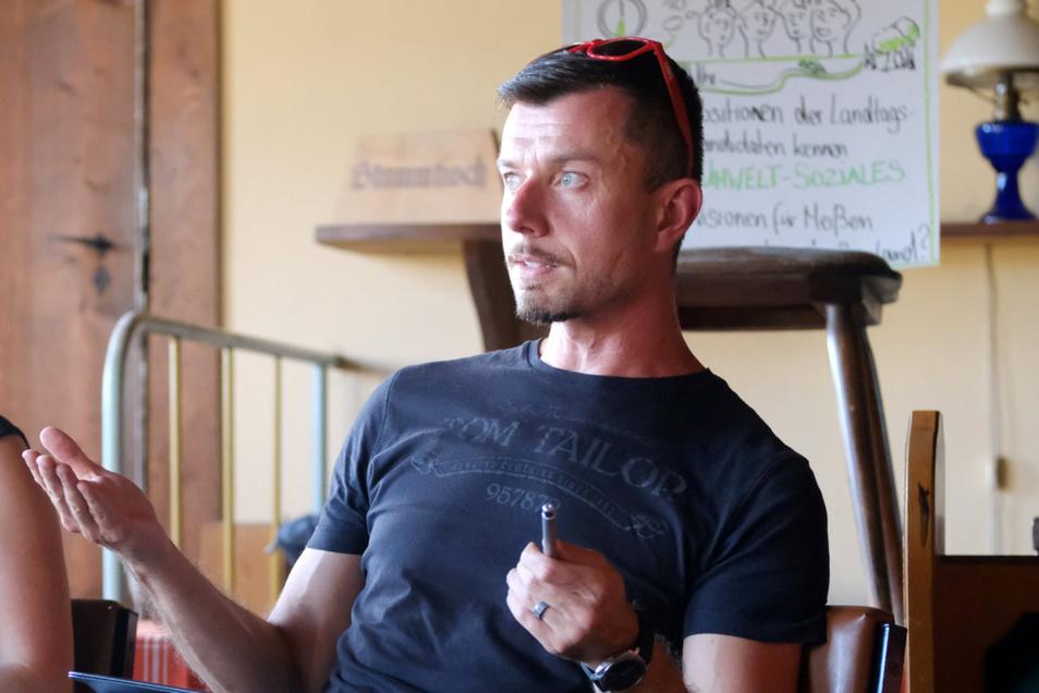 Spricht sich dafür aus, das Weinfest nicht voreilig abzusagen, aber angepasst an die Corona-Zeit zu gestalten: Meißens Linken-Fraktionschef Tilo Hellmann.